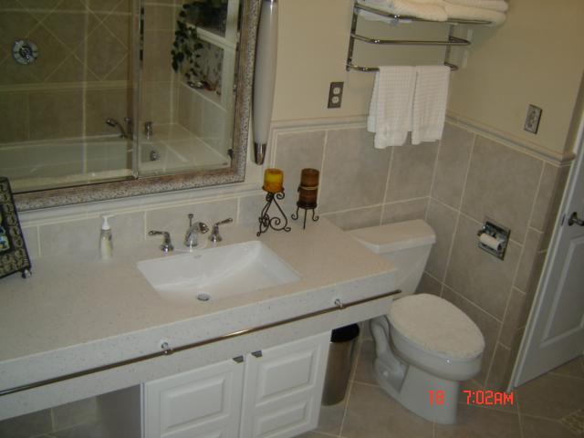 Vanity cabinets & countertops