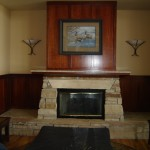 Recreation Center, Grant Ranch, CO, lobby fireplace