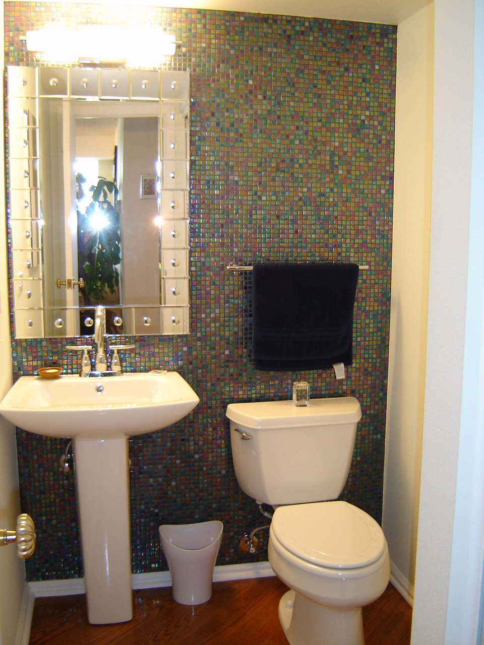 Litwin powder room remodel denver co schuster design for Small toilet room design
