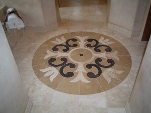Add some pattern to the floors schuster design studio for Wood floor medallion designs